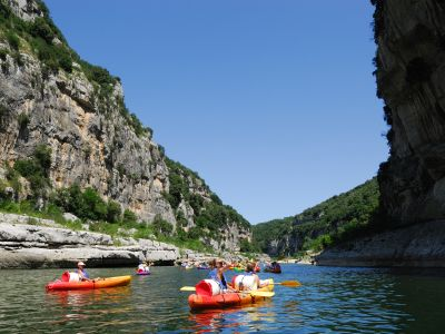 Canoë-Kayak dans les Gorges de l'Ardèche